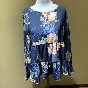 NWOT Maurices boho floral blouse